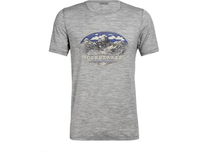 ICEBREAKER Herren Shirt Tech Lite SS Crewe K2 Crest Grau