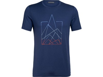 ICEBREAKER Herren Shirt Tech Lite SS Crewe 7 Pinnacles Blau