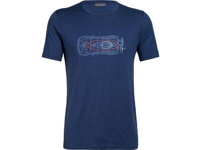 ICEBREAKER Herren Shirt Tech Lite SS Crewe Wireframe Wonder Blau