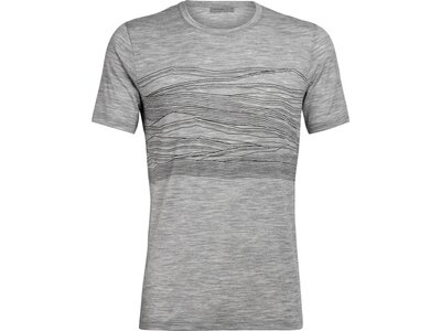 ICEBREAKER Herren Shirt Tech Lite SS Crewe 1000 Vistas Grau