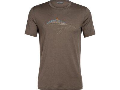ICEBREAKER Herren Shirt Tech Lite SS Crewe Whitecap Whale Braun