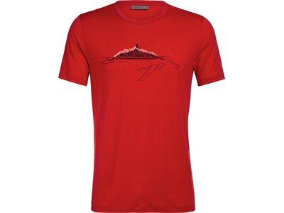 ICEBREAKER Herren Shirt Tech Lite SS Crewe Whitecap Whale Rot