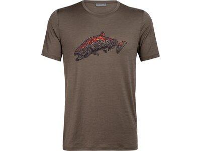 ICEBREAKER Herren Shirt Tech Lite SS Crewe Tetons Salmon Braun