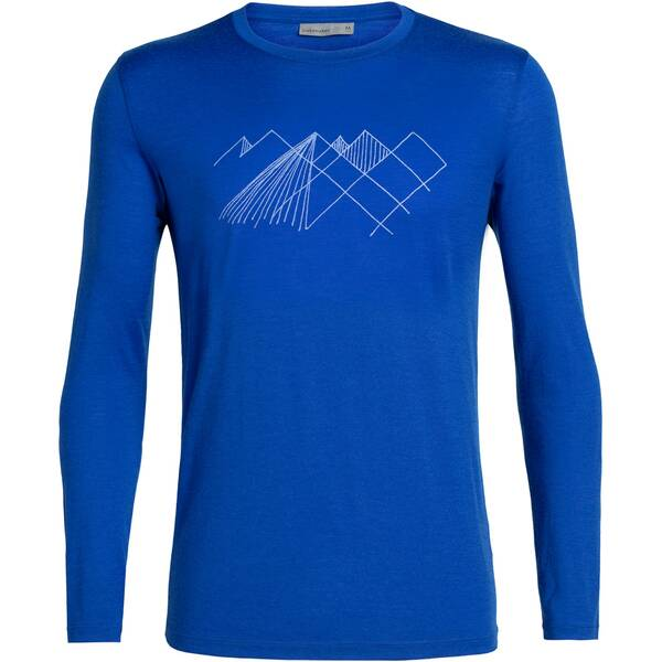 ICEBREAKER Herren Shirt  Tech Lite LS Crewe Geo Mountain