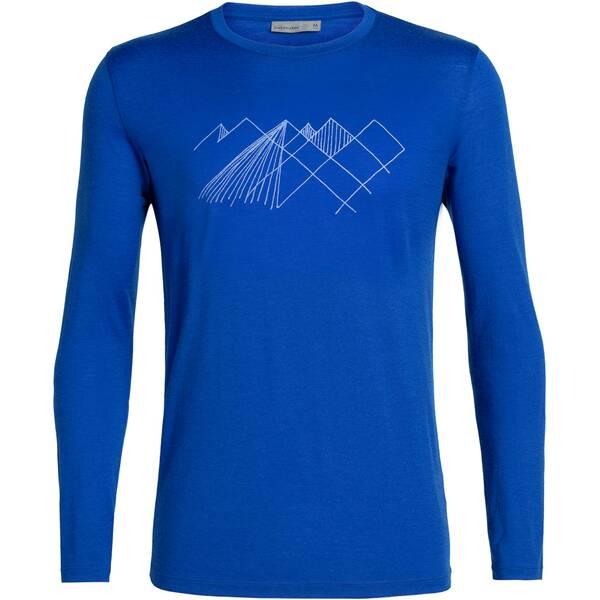 ICEBREAKER Herren Shirt  Tech Lite LS Crewe Geo Mountain