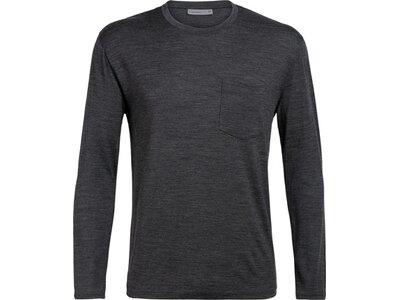 ICEBREAKER Herren Shirt Ravyn LS Pocket Crewe Grau