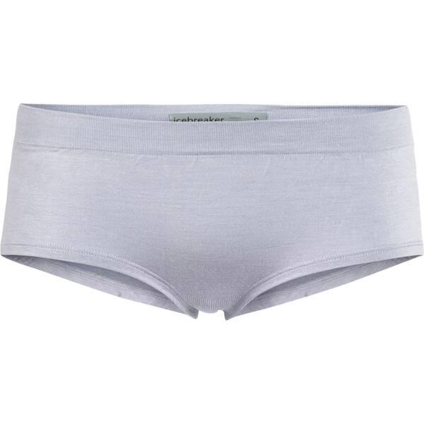 Hosen - ICEBREAKER Damen Hot Pants Anatomica Seamless Sport Hipkini › Silber  - Onlineshop Intersport