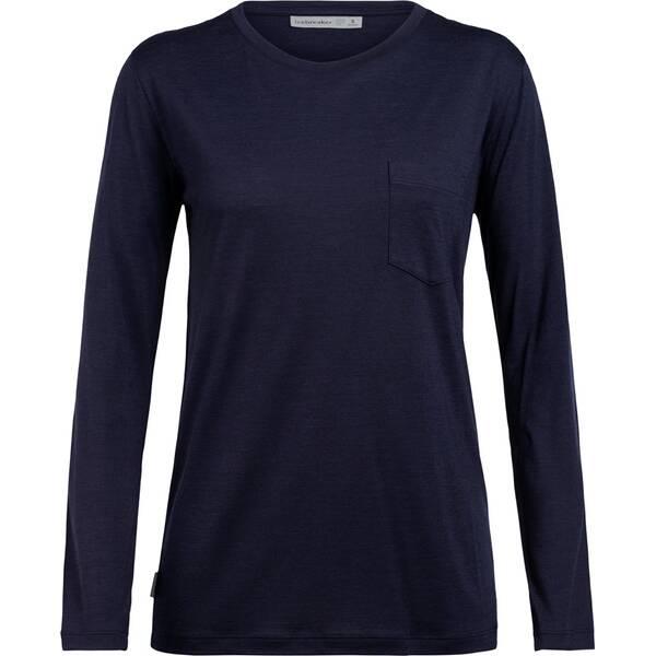 ICEBREAKER Damen Shirt  Ravyn LS Pocket Crewe
