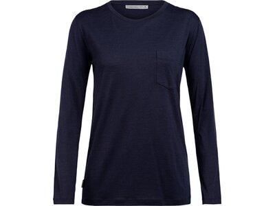 ICEBREAKER Damen Shirt Ravyn LS Pocket Crewe Schwarz