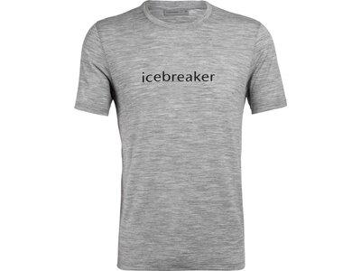 ICEBREAKER Herren Shirt Icebreaker Logo SS Crewe Icebreaker Wordmark Grau