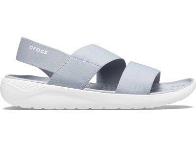 CROCS Damen LiteRide Stretch Sandal W Lgr/Whi Grau