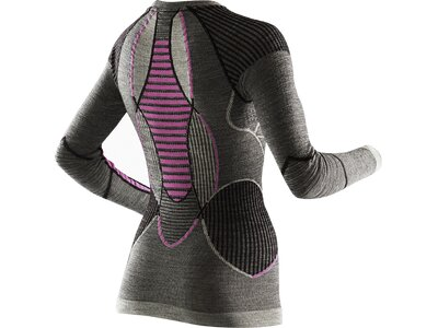 X-BIONIC Damen Shirt APANI MERINO BY FASTFLOW Grau