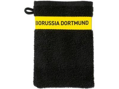 BVB-Waschhandschuh (schwarz) Gelb