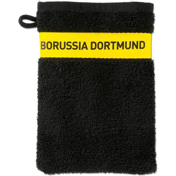 BVB-Waschhandschuh (schwarz)