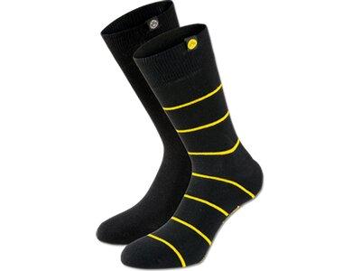 BVB-Socken (schwarz, 2er-Set) Gr.43-46 Gelb