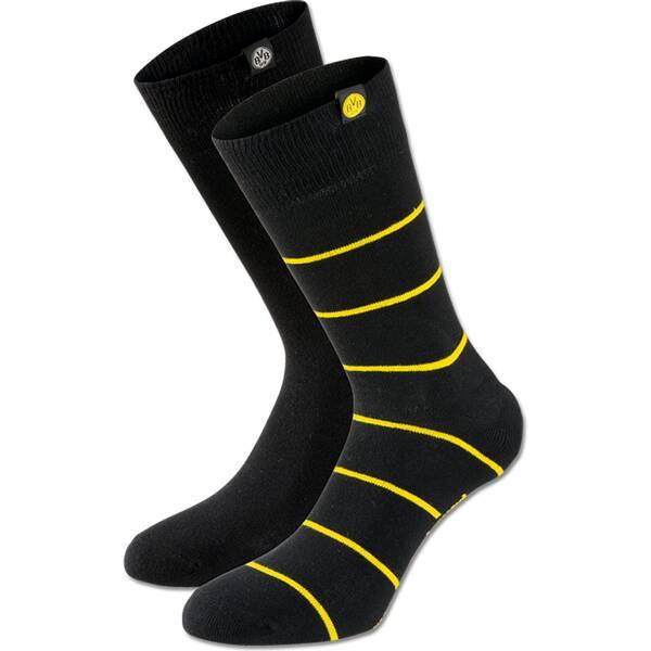 BVB-Socken (schwarz, 2er-Set) Gr.43-46
