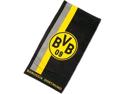 BVB-Handtuch mit Logo im Streifenmuster 50x100cm Gelb