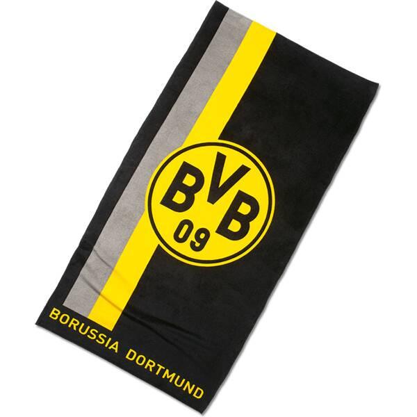 BVB-Handtuch mit Logo im Streifenmuster 50x100cm