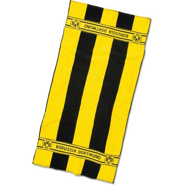 BVB-Handtuch mit Blockstreifen 50x100cm