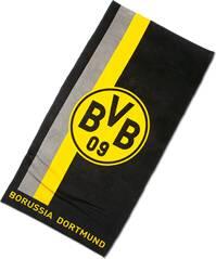 BVB-Duschtuch mit Logo im Streifenmuster 70x140cm