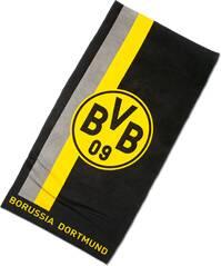 BVB-Badetuch mit Logo im Streifenmuster 70x180cm