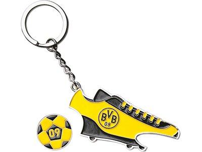BVB-Schlüsselanhänger mit Einkaufschip & Öffner Schwarz