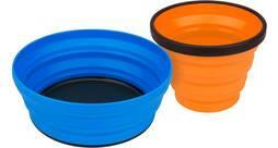 Vorschau: SEA TO SUMMIT Camping Zubehör X-Set: 2-Pce (X-Mug,X Bowl & Storage Pouch) Orange / Lime