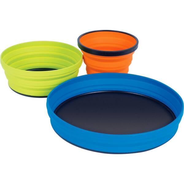 SEA TO SUMMIT Camping Zubehör X-Set: 3-Pce (X-Mug,X Bowl, X Plate & Storage Pouch) Orange / Lime / B
