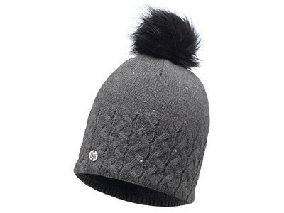 BUFF Bommelmütze Knitted & Polar Hat Elie Grau