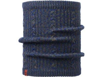 BUFF Herren Schal Knitted & Polar COMFORT BRAIDY Blau