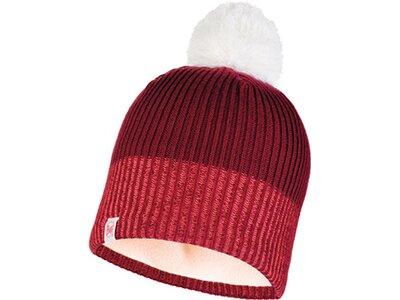 BUFF Kinder Knitted & Polar Mütze AUDNY Rot