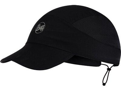 "BUFF Herren Laufsport Cap ""Pack Run Cap R-Solid Black"" Schwarz"