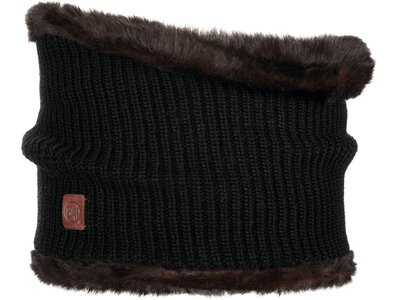 BUFF Herren Schal Knitted COLLAR ADALWOLF Schwarz
