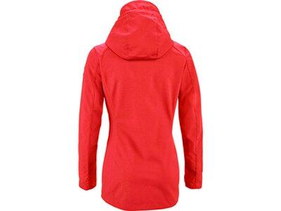 G.I.G.A. DX Damen Casual Softshell Jacke mit abzippbarer Kapuze-Solena Rot
