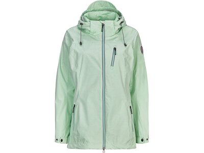 G.I.G.A. DX Damen Casual Softshell Jacke mit abzippbarer Kapuze-Solena Stripe Grau