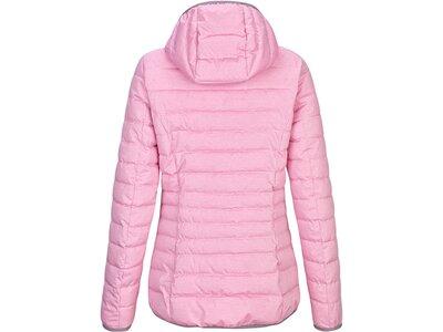 G.I.G.A. DX Damen Casual Funktionsjacke in Daunenoptik mit abzippbarer Kapuze-Uyaka Stripe Pink