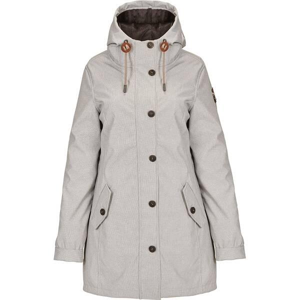 G.I.G.A. DX by killtec Damen Casual Softshellparka mit Kapuze, gebonded mit Pilefleece