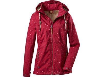 G.I.G.A. DX Damen Casual Softshell Jacke mit abzippbarer Kapuze-Fermoso WMN Softshell JCKT D Rot
