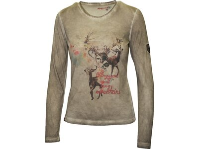 ALMGWAND Damen Langarm-Shirt Anlaufalm Grau