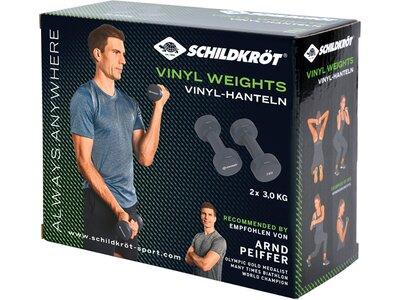 Schildkröt Fitness Vinyl Hanteln 3,0kg Set Grau