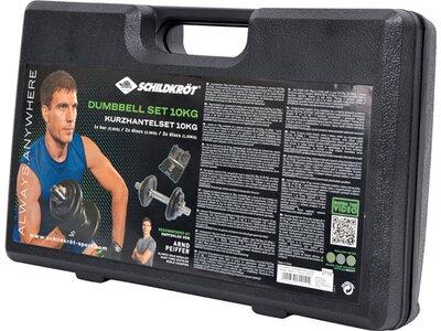 SCHILDKRÖT FITNESS KURZ-HANTELSET 10kg im ABS-Kunststoffkoffer Schwarz