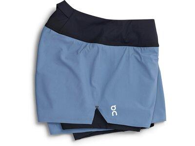 ON Damen Shorts Running Blau