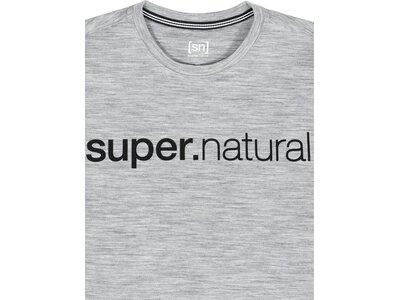 SUPER.NATURAL Herren Sweatshirt SIGNATURE CREW Silber