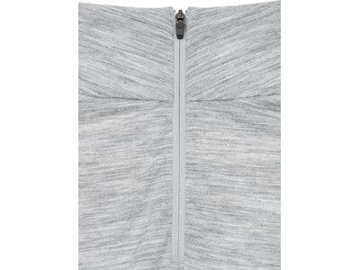 SUPER.NATURAL Damen Langarmshirt W BASE 1/4 ZIP 175 Silber