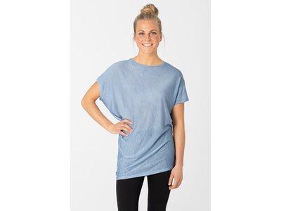 SUPER.NATURAL Damen Shirt YOGA LOOSE Blau