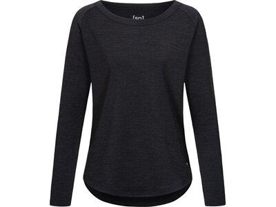 SUPER.NATURAL Damen Sweatshirt ESSENTIAL CREW Schwarz
