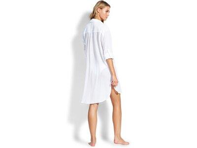 "SEAFOLLY Damen Strandkleid /-Hemd ""Crinkle Twill Beach Shirt"" Weiß"