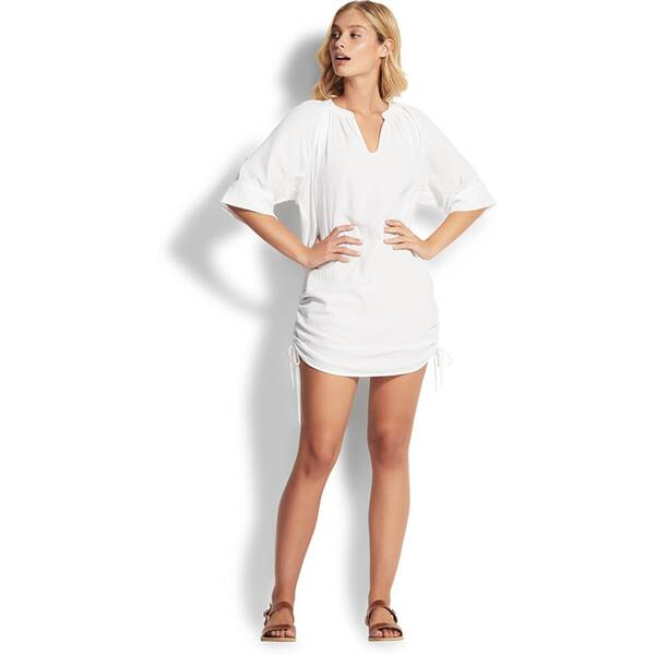 SEAFOLLY Damen Bluse Textured Cotton Cover Up