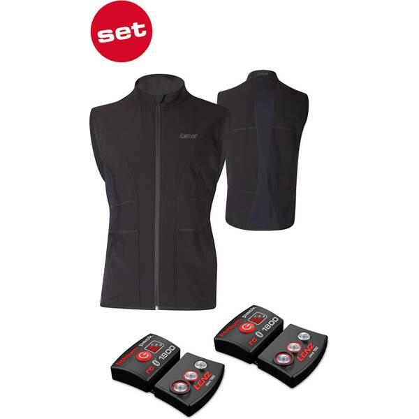 LENZ Herren Heizweste set of heat vest 1.0 men + lithium pack rcB 1800