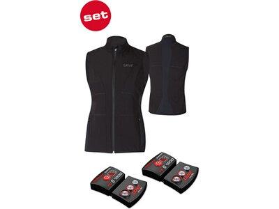 LENZ Damen Heizweste set of heat vest 1.0 women + lithium pack rcB 1800 Schwarz